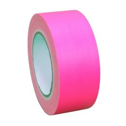Fluorescerende tape 50 mm x 25 m roze