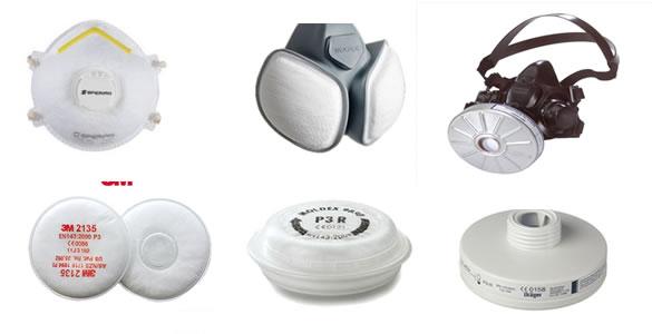 Enkele typen stofmaskers en filters