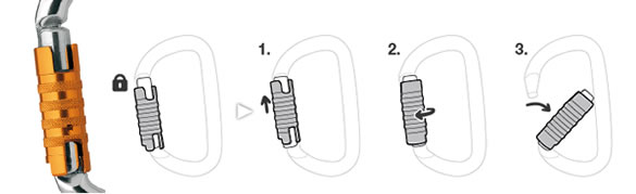 Triact Lock karabiner.