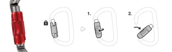Twist-lock karabiner