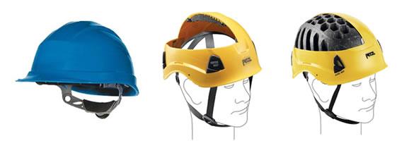 Helmen met en zonder ventilatie.