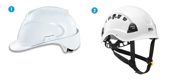 Soorten binnenwerk bij helmen.