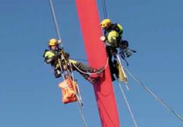 Werken met rope access
