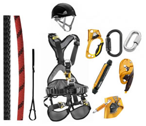 Complete set voor rope access