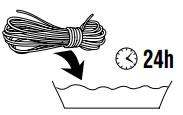Laten krimpen van semi-statisch touw.