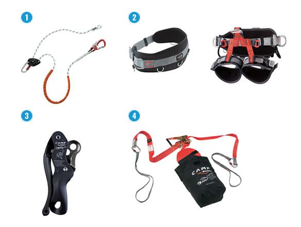 Producten voor positioneringstechnieken van Camp Safety.