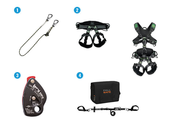 Producten voor positioneringstechnieken van Fallsafe.