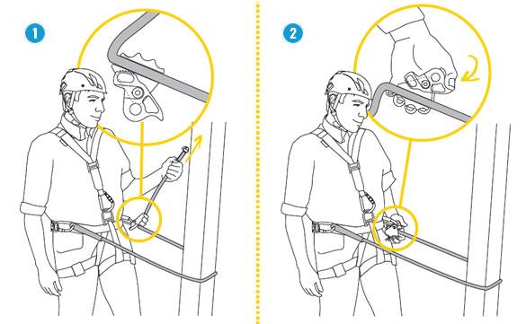 Gebruik van instelbare positioneringslijn.